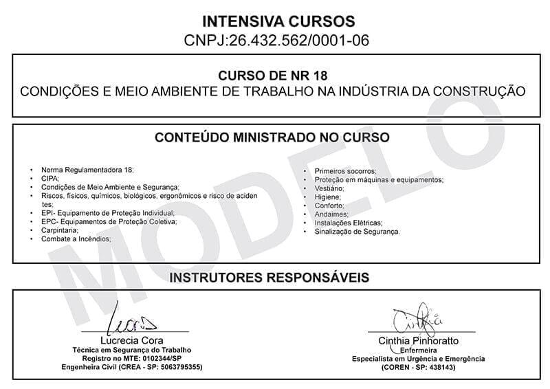Curso De Nr 18 Com Certificado