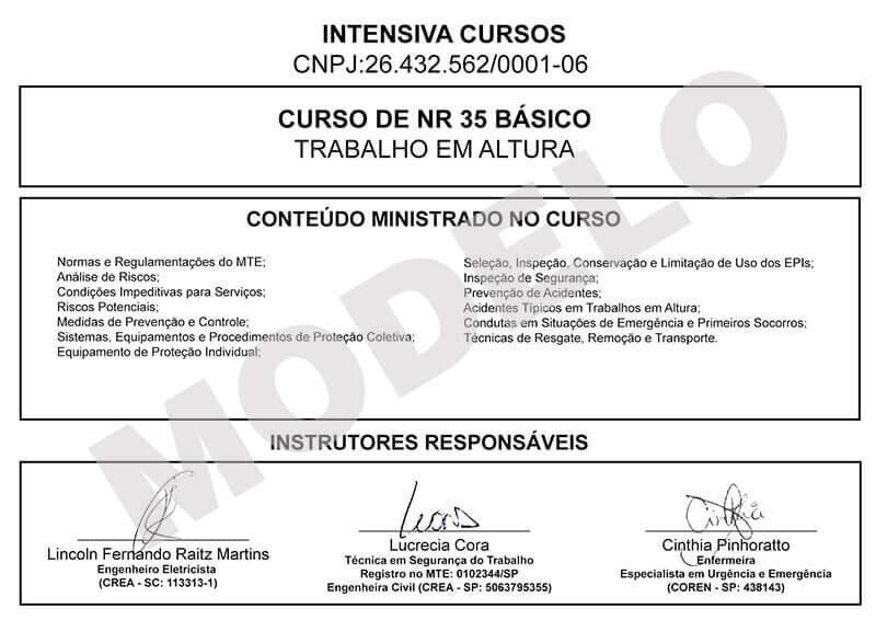 Curso De Nr 35 Com Certificado